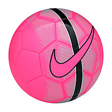 Buy Nike Mercurial Skills Mini Football, Hyper Pink Online at johnlewis.com