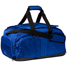 Buy Adidas 3 Stripes Performance Small Team Bag, Blue Online at johnlewis.com