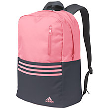 Buy Adidas Versatile 3-Stripes Backpack, Pink/Grey Online at johnlewis.com