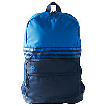 Buy Adidas 3-Stripes Medium Sports Backpack, Collegiate Navy/Blue Online at johnlewis.com
