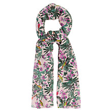 Buy Oasis Rainforest Print Scarf, Pink Online at johnlewis.com