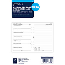 Buy Filofax Week Per Page 2016 Diary Inserts, A5 Online at johnlewis.com