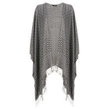 Buy Oasis Aztec Fringed Wrap, Black / White Online at johnlewis.com
