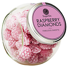 Buy Sugarsin Raspberry Boiled Sweets Jar, 270g Online at johnlewis.com