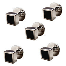 Buy Denison Boston Mindy Dress Studs, Black Onyx Online at johnlewis.com