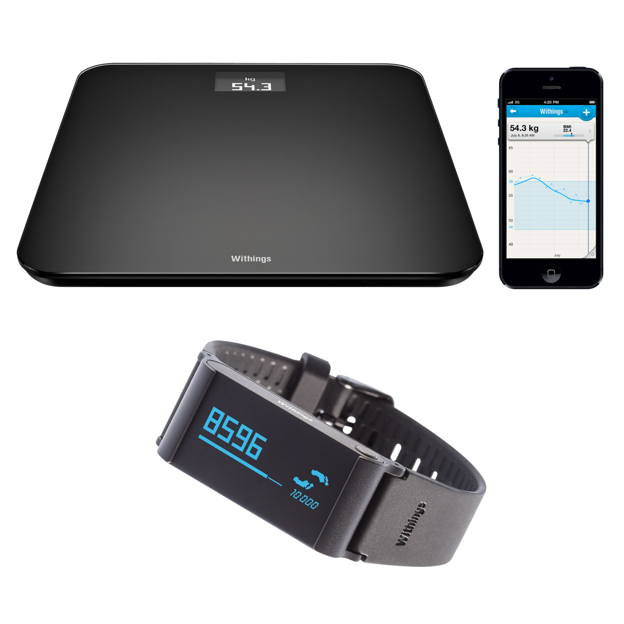 Withings Withings Pulse Ox & WS-30 Wireless Activity, Sleep and Health Tracker & Wireless Bathroom Scale, Black