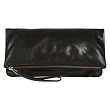 Buy Oasis Felicity Foldover Clutch Bag, Black Online at johnlewis.com