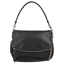 Buy Oasis Zenda Zip Cross Body Bag, Black Online at johnlewis.com