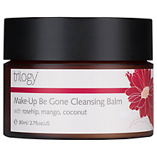 Buy Trilogy Make-up Be Gone Cleansing Balm, 80ml Online at johnlewis.com