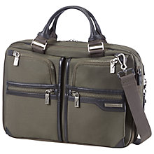 "Buy Samsonite GT Supreme Bailhandle 15.6"" Laptop Expandable Work Bag, Olive Online at johnlewis.com"
