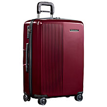 Buy Briggs & Riley Sympatico 4-Wheel Medium Suitcase, Burgundy Online at johnlewis.com