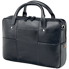 Buy Fedon British-File Leather Briefcase, Black Online at johnlewis.com
