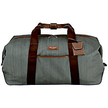 Buy Ted Baker Medium Clipper Holdall, Grey Online at johnlewis.com
