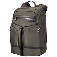 "Buy Samsonite GT Supreme 15.6"" Laptop Backpack, Olive Online at johnlewis.com"