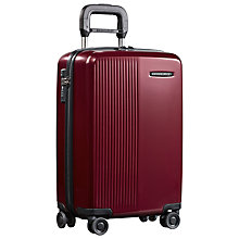 Buy Briggs & Riley Sympatico 4-Wheel International Cabin Suitcase, Burgundy Online at johnlewis.com