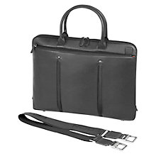 Buy Fedon1919 Web-File-Doc Leather Briefcase, Grey Online at johnlewis.com