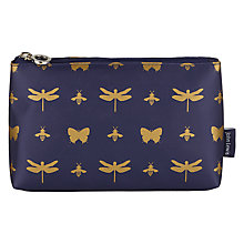 Buy John Lewis Discover Toilettries Pouch, Navy & Gold Online at johnlewis.com