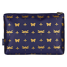 Buy John Lewis Discover Toilettries Holdall, Navy & Gold Online at johnlewis.com