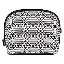 Buy John Lewis Eva Cosmetic Clutch, Black/White Online at johnlewis.com