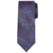 Buy Richard James Mayfair Tonal Paisley Tie, Black Online at johnlewis.com