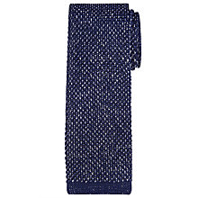 Buy Richard James Mayfair Melange Knit Silk Tie, Navy/Silver Online at johnlewis.com