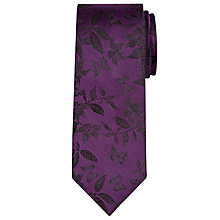 Buy Richard James Mayfair Butterfly Print Silk Tie, Purple Online at johnlewis.com