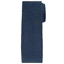 Buy Richard James Mayfair Two Tone Knitted Silk Tie, Green/Blue Online at johnlewis.com