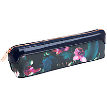 Buy Ted Baker Bodo Fuchsia Pencil Case, Dark Blue Online at johnlewis.com