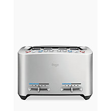 Buy Sage by Heston Blumenthal the Smart Toast™ 4 Slice Toaster, Stainless Steel Online at johnlewis.com
