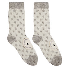 Buy Aroma Home Fluffy Owl Bed Socks, One Size, Grey/White Online at johnlewis.com