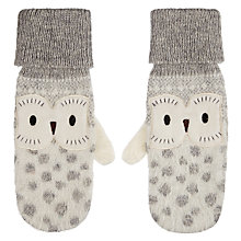 Buy Aroma Home Fluffy Owl Mittens Online at johnlewis.com