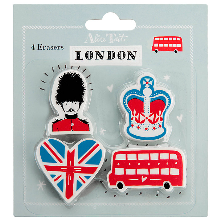 Alice Tait London Eraser Set (£5.50)