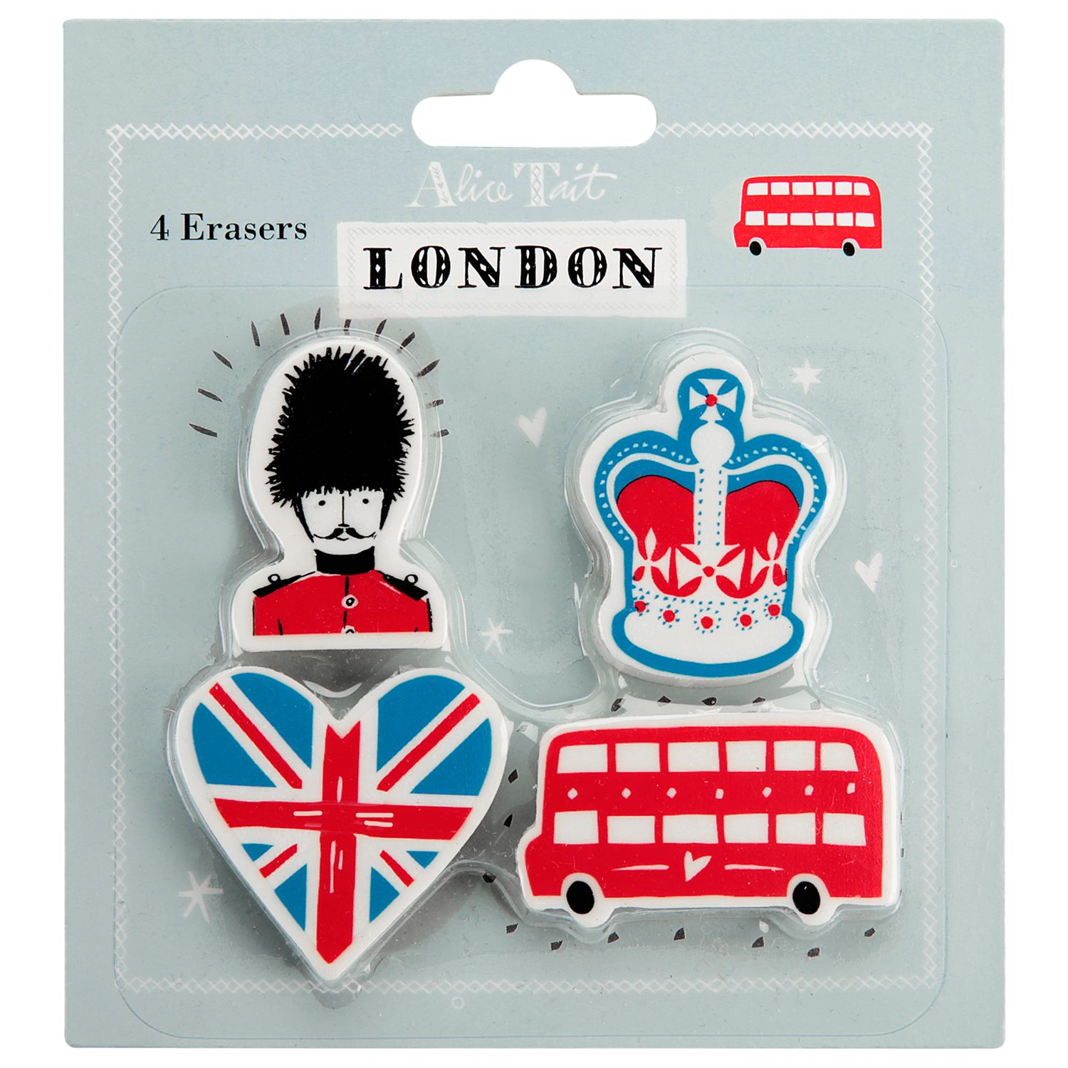 Alice Tait Alice Tait London Eraser Set