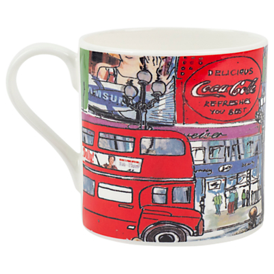 Emmeline Simpson Piccadilly Circus Mug, Red