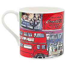 Buy Emmeline Simpson Piccadilly Circus Mug, Red Online at johnlewis.com