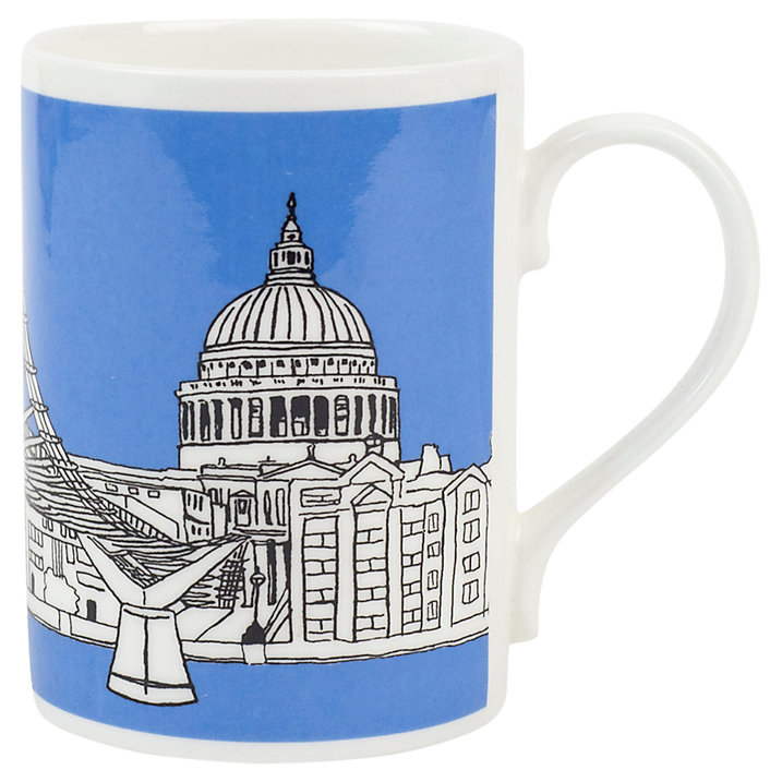 Emmeline Simpson Millenium Bridge Mug, Blue (£10.50)