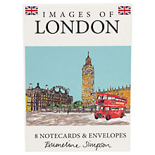 Buy Emmeline Simpson Piccadilly Circus Note Cards Online at johnlewis.com
