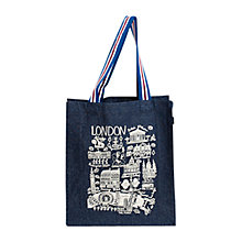 Buy Talented Cityscape London Denim Tote Bag, Large Online at johnlewis.com