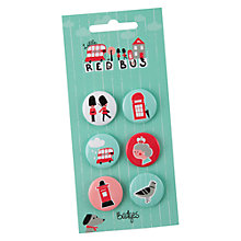 Buy Little Red Bus Badges Online at johnlewis.com