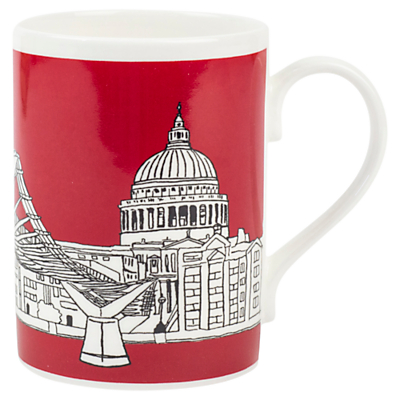Emmeline Simpson Millenium Bridge Mug, Red