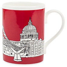 Buy Emmeline Simpson Millenium Bridge Mug, Red Online at johnlewis.com