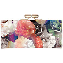 Buy Ted Baker Oregon Bloom Matinée Leather Purse, Black Online at johnlewis.com