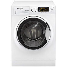 Buy Hotpoint RPD9647JX Ultima S-Line Freestanding Washing Machine, 9kg Load, A+++ Energy Rating, 1600rpm Spin, White / Stainless Steel Online at johnlewis.com