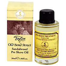 Buy Taylor of Old Bond Street Sandalwood Pre Shave Oil, 30ml Online at johnlewis.com