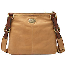 Buy Fossil Explorer Across Body Bag, Tan Online at johnlewis.com