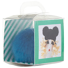 Buy Rico Faux Fur Pompom Craft Kit, Azure Online at johnlewis.com