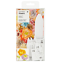 Buy Rico Chrysanthemum/Poppy Stencil Set, White Online at johnlewis.com