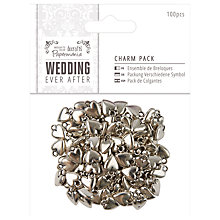 Buy Docrafts Wedding Heart Charm Pack, 100pcs, Metallic Online at johnlewis.com