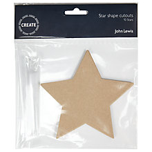 Buy John Lewis Create Star Craft Card Cut Outs, Pack of 10, Brown Online at johnlewis.com