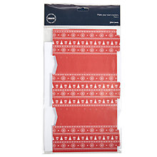 Buy John Lewis Create Christmas Crackers, Pack of 6, Red Online at johnlewis.com